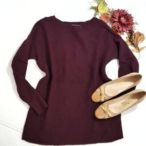 Tahari Extrafine Merino Wool Boat Neck Sweater M